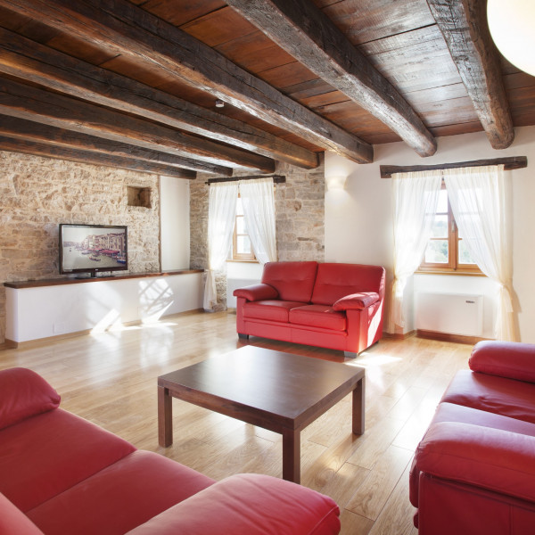 Living room, Villa Stancija Groznjan, Vacation villas, apartments and hotels in Croatia - Charming Croatia  - Apartmanica